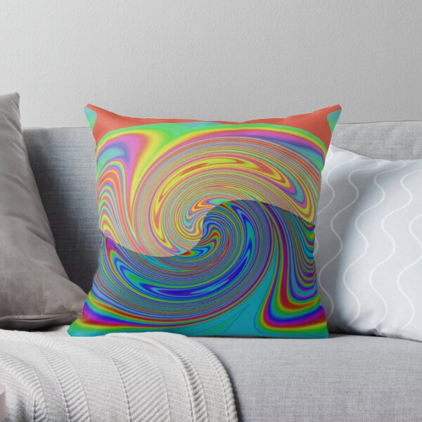 Vortex Dance Game with Two Halves of the World Throw Pillow