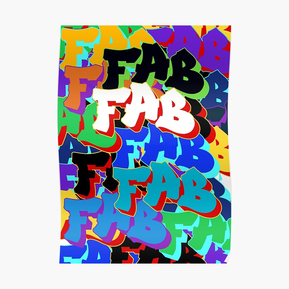 """Fab"" pattern Poster"