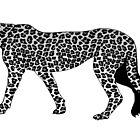 Snow Leopard print by rlnielsen4