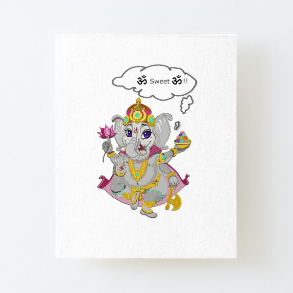 "Ganesh "" Home Sweet Home"" Impression montée sur toile"