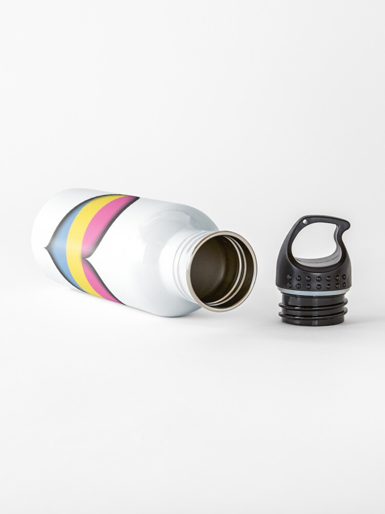 Alternate view of Pansexual Heart Water Bottle
