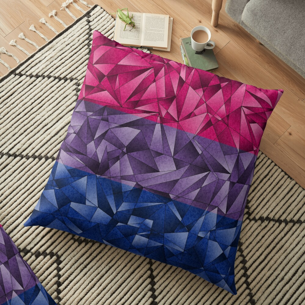 Abstract Bisexual Flag Floor Pillow