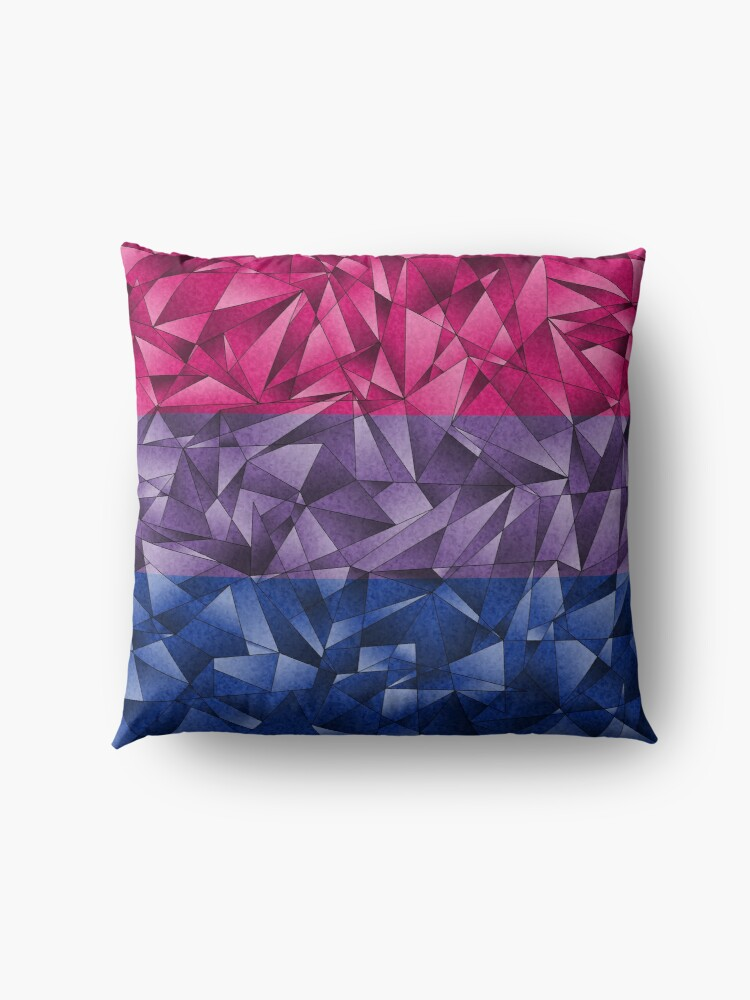 Alternate view of Abstract Bisexual Flag Floor Pillow