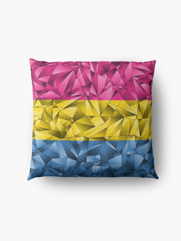 Alternate view of Abstract Pansexual Flag Floor Pillow