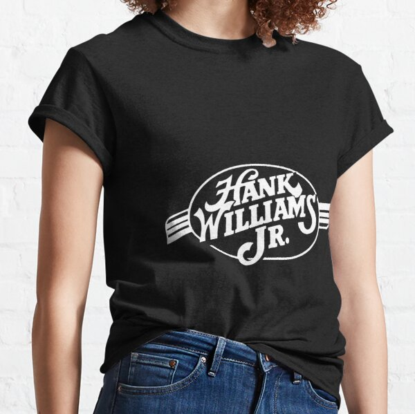 white Hank Williams Jr Classic T-Shirt