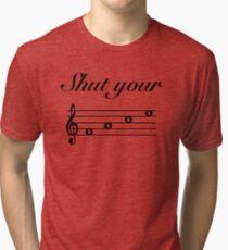Funny Music Design Tri-blend T-Shirt
