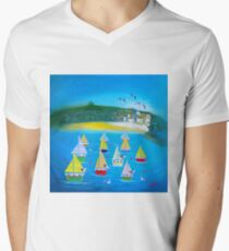 St Ives paper sails Men's V-Neck T-Shirt