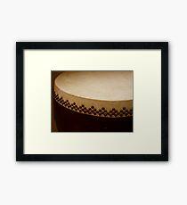 temple drum Framed Print