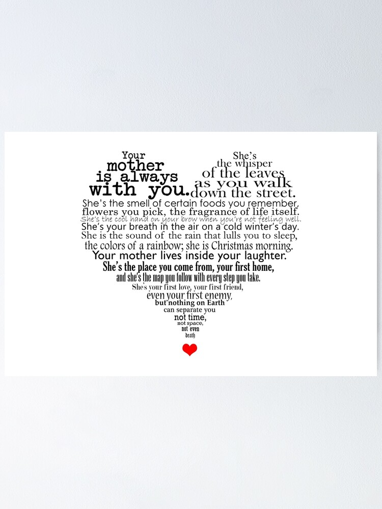 Mothers Day Poem Poster