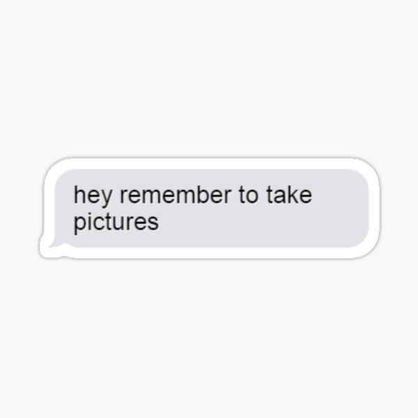 remember to take pictures iMessage Sticker