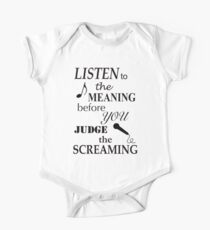 Listen To The Meaning Before You Judge The Screaming One Piece - Short Sleeve
