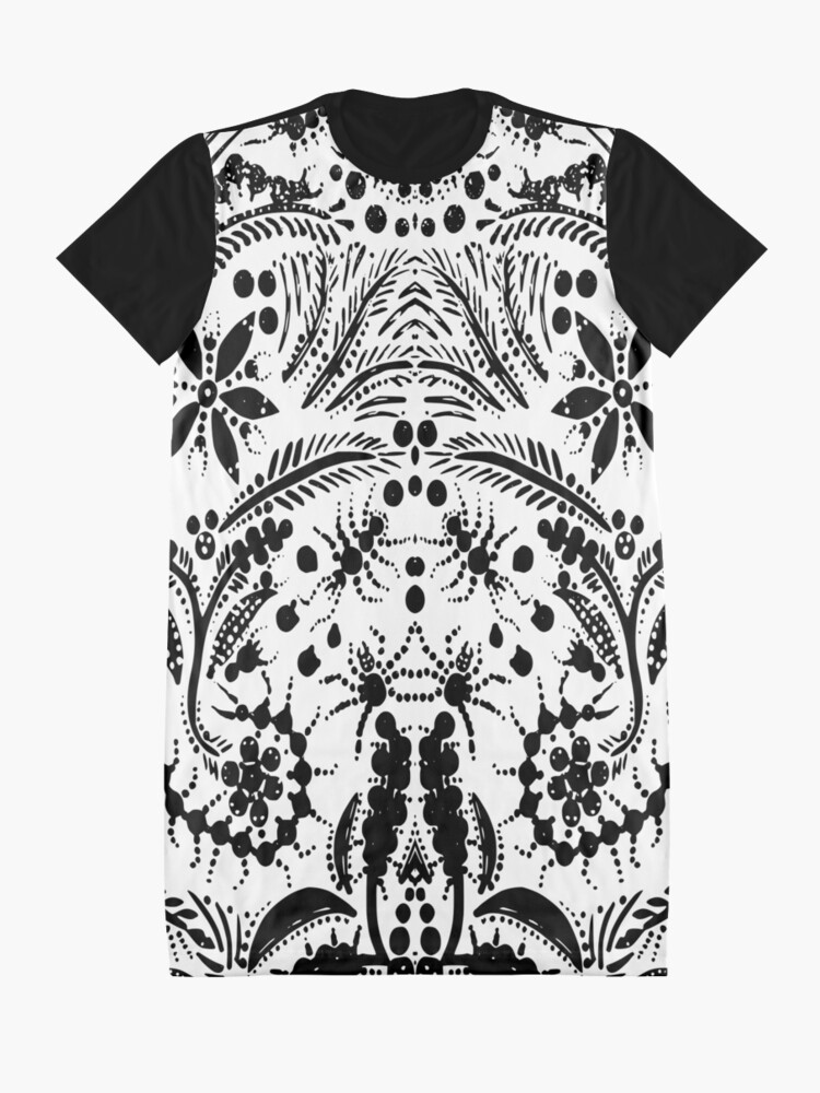 Alternate view of Black and White Jungle Graphic T-Shirt Dress