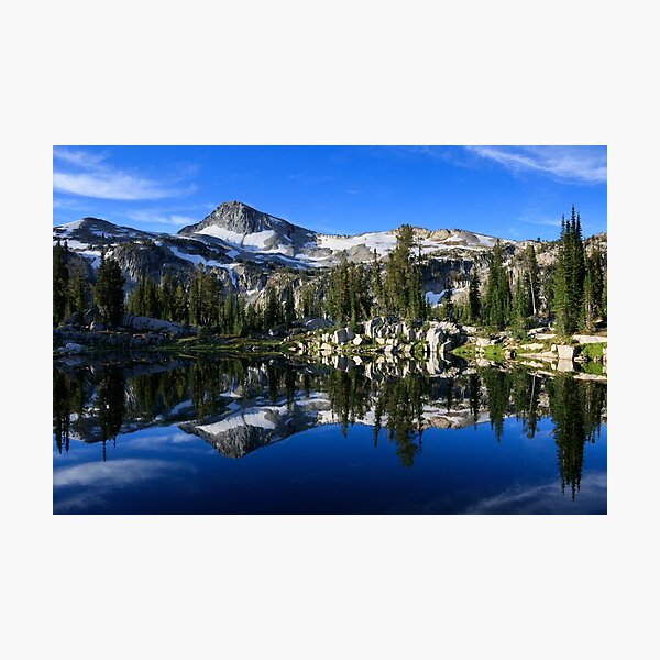 Eagle Cap reflected in Sunshine Lake, Eagle Cap Wilderness, Wallowa-Whitman National Forest, Oregon Photographic Print