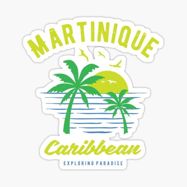 Martinique Caribbean Paradise Cadeaux et Souvenirs Sticker