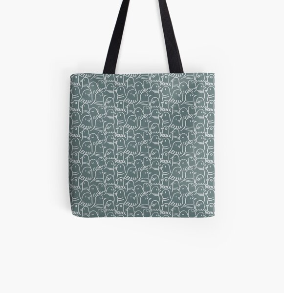 Piazza San Marco Pigeons All Over Print Tote Bag
