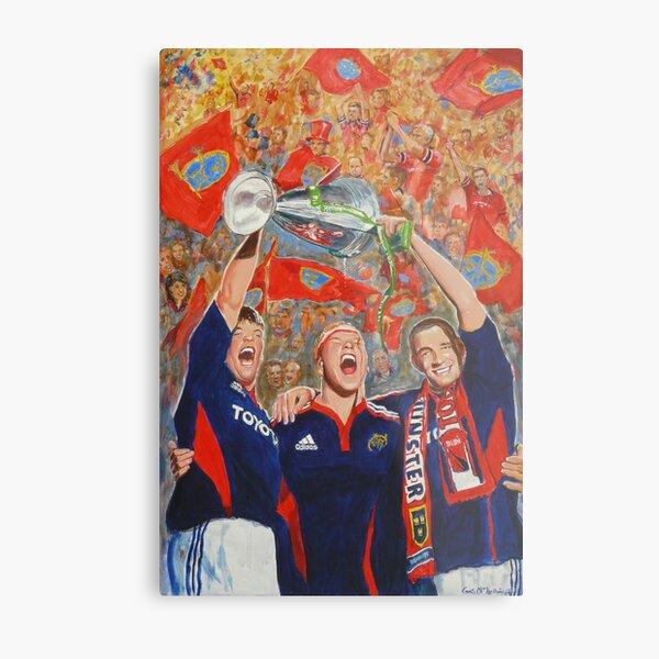 Munster Heiniken Cup Winners 2008 Metal Print