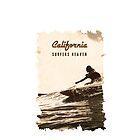 ☀ Kalifornien ✪ Surfer-Himmel ✪ Vintages Retro Kunstartplakat ✔ von Naumovski