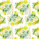 Illustrated floral pattern by Sharon Farrow