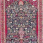 Kerman Millefleurs Perserteppich Print von Vicky Brago-Mitchell®