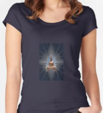 Buddha Statue - Enhanced  Women's Fitted Scoop T-Shirt