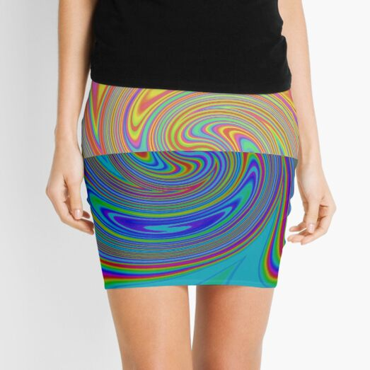 Vortex Dance Game with Two Halves of the World Mini Skirt