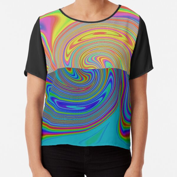 Vortex Dance Game with Two Halves of the World Chiffon Top