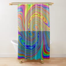 Vortex Dance Game with Two Halves of the World Shower Curtain