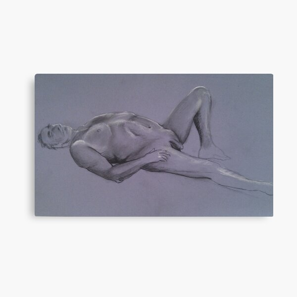Reclining Male Nude #1 Canvas Print