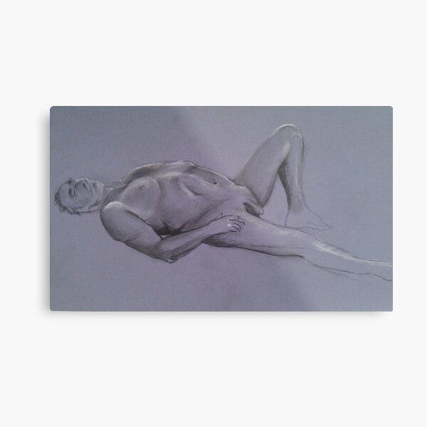 Reclining Male Nude #1 Metal Print