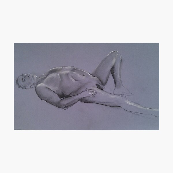 Reclining Male Nude #1 Photographic Print