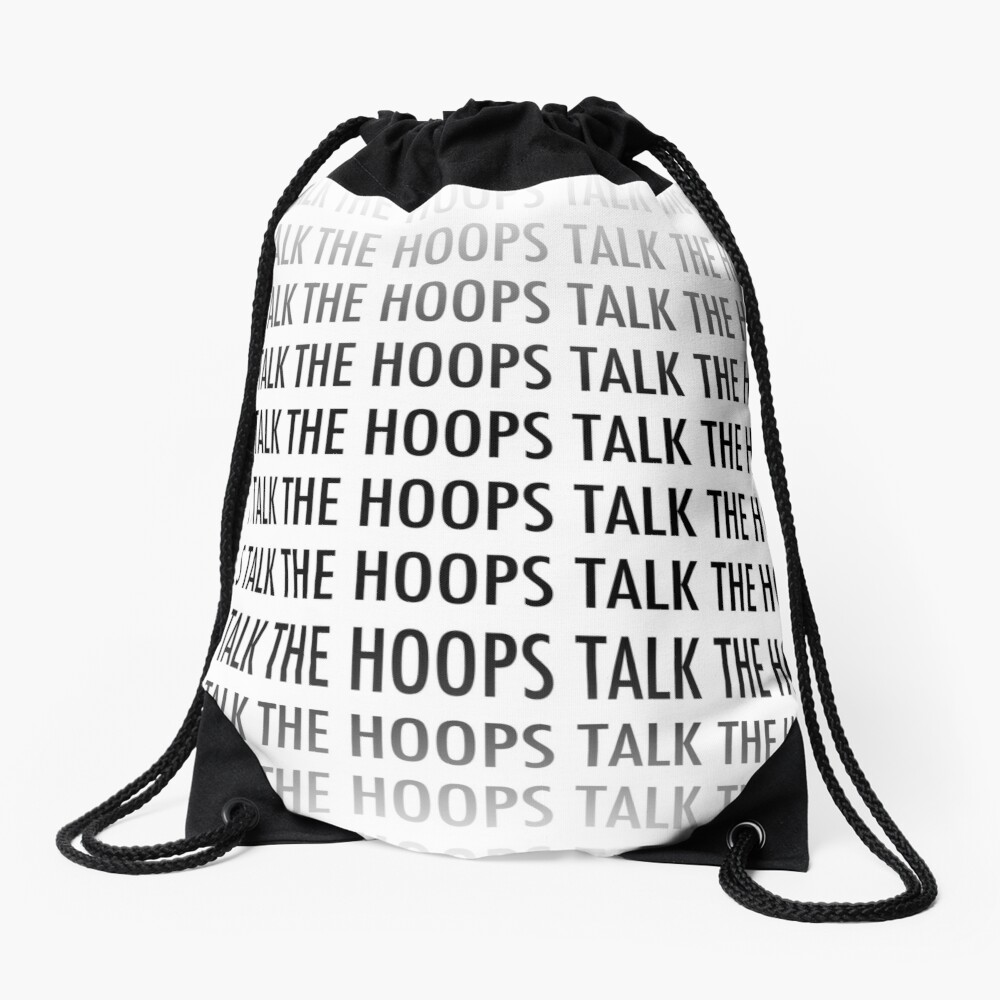 The Hoops Talk Tote Drawstring Bag