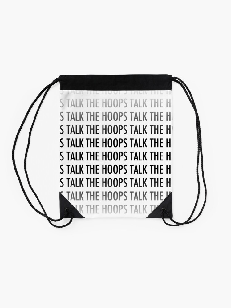 Alternate view of The Hoops Talk Tote Drawstring Bag