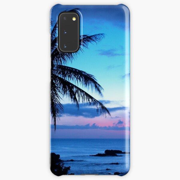 Tropical Island Pretty Pink Blue Sunset Landscape Samsung Galaxy Snap Case