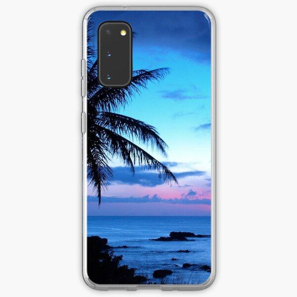 Tropical Island Pretty Pink Blue Sunset Landscape Samsung Galaxy Soft Case