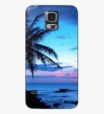Funda/vinilo para Samsung Galaxy Tropical Island Pretty Pink Blue Sunset Paisaje