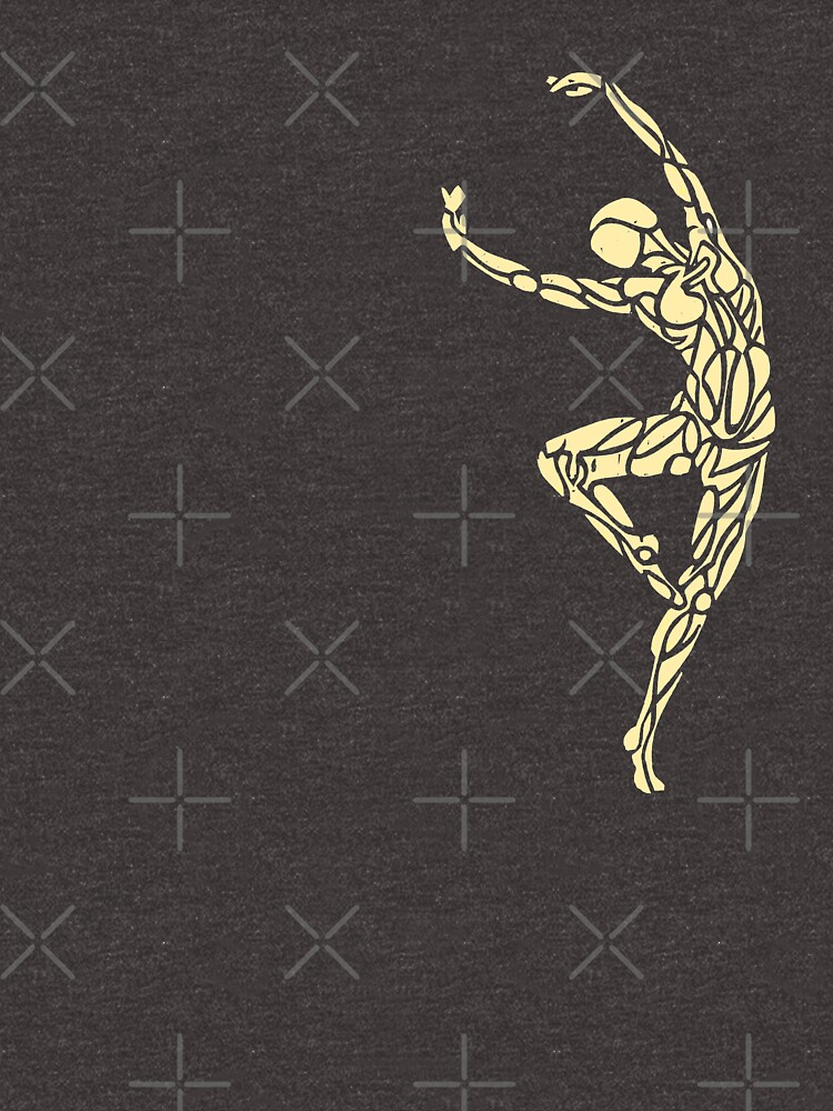Dancer No.14 - Smaller Single Design (Golden Grey) by danceink