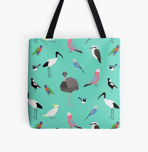 Australian Birds All Over Print Tote Bag
