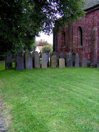 Sheltered grave stones by patjila