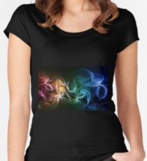 Colors explosion Women's Fitted Scoop T-Shirt