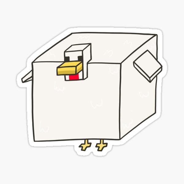 minecraft chicken but thick Sticker