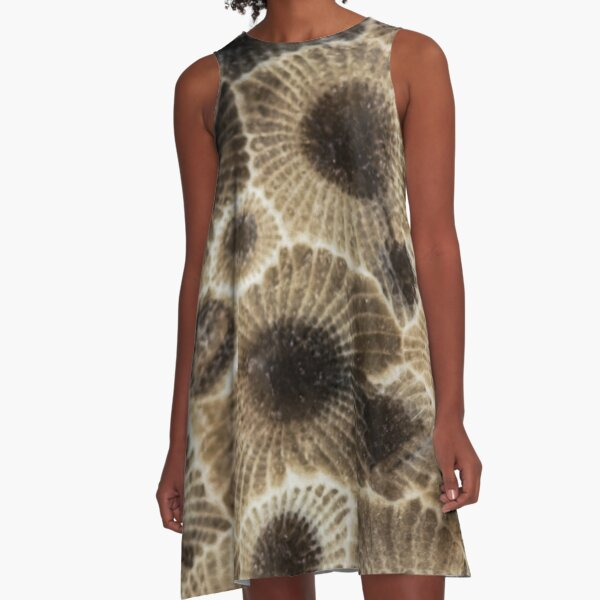 Petoskey Stone  A-Line Dress