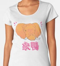 Elephant Duck Kanji Premium Scoop T-Shirt