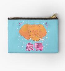 Elephant Duck Kanji Zipper Pouch