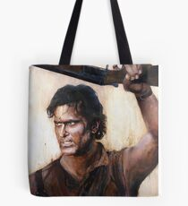 Bruce Campbell V.S Army of Darkness Tote Bag