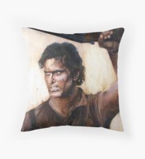 Bruce Campbell V.S Army of Darkness Throw Pillow