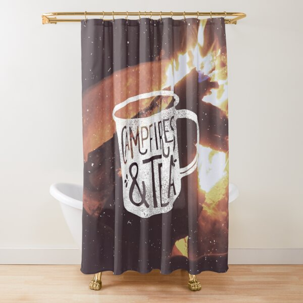 CAMPFIRES and TEA Shower Curtain