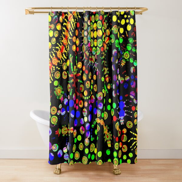 Creeping Marbles Shower Curtain
