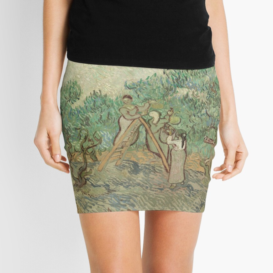 The Olive Orchard by Vincent van Gogh - Classic Art Mini Skirt