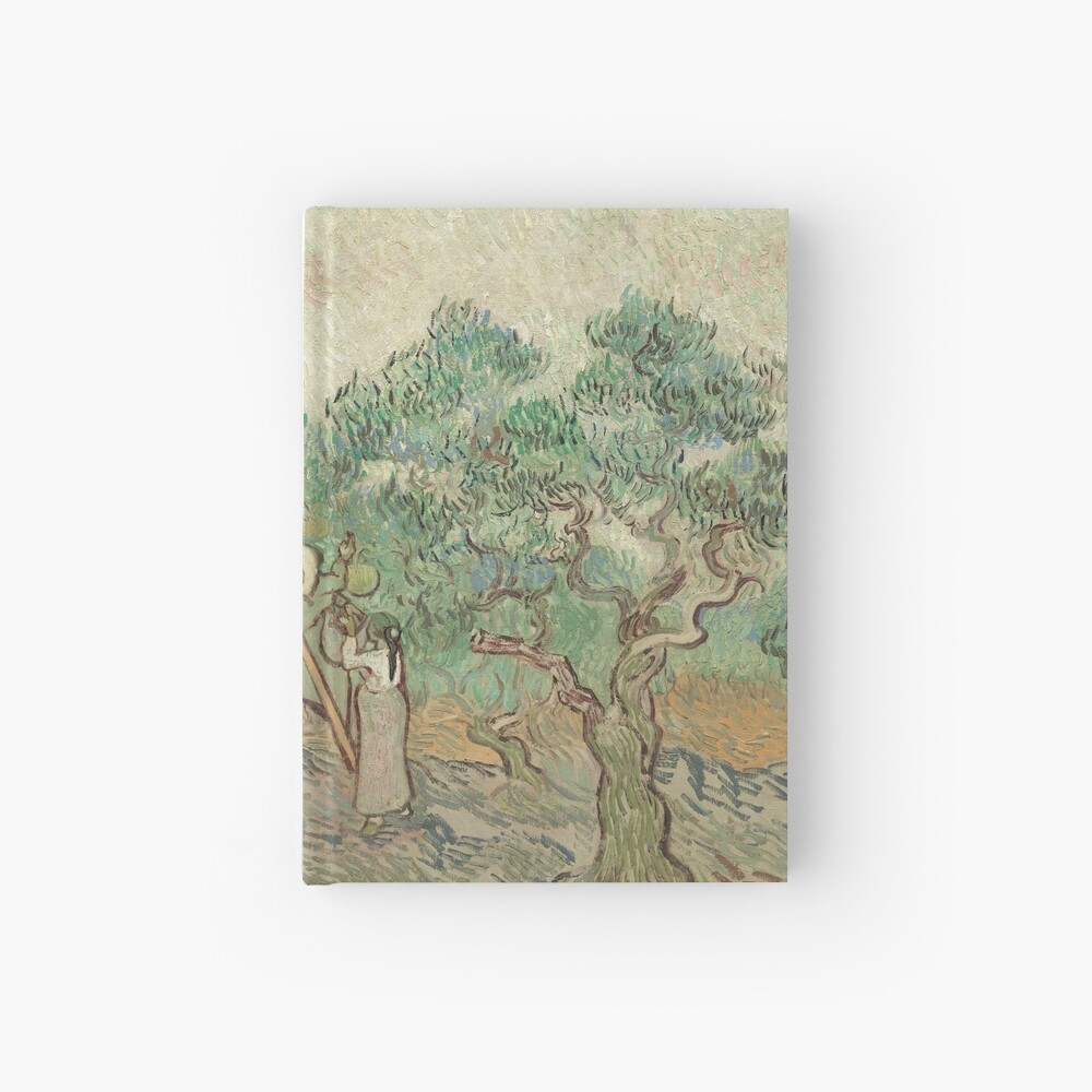 The Olive Orchard by Vincent van Gogh - Classic Art Hardcover Journal