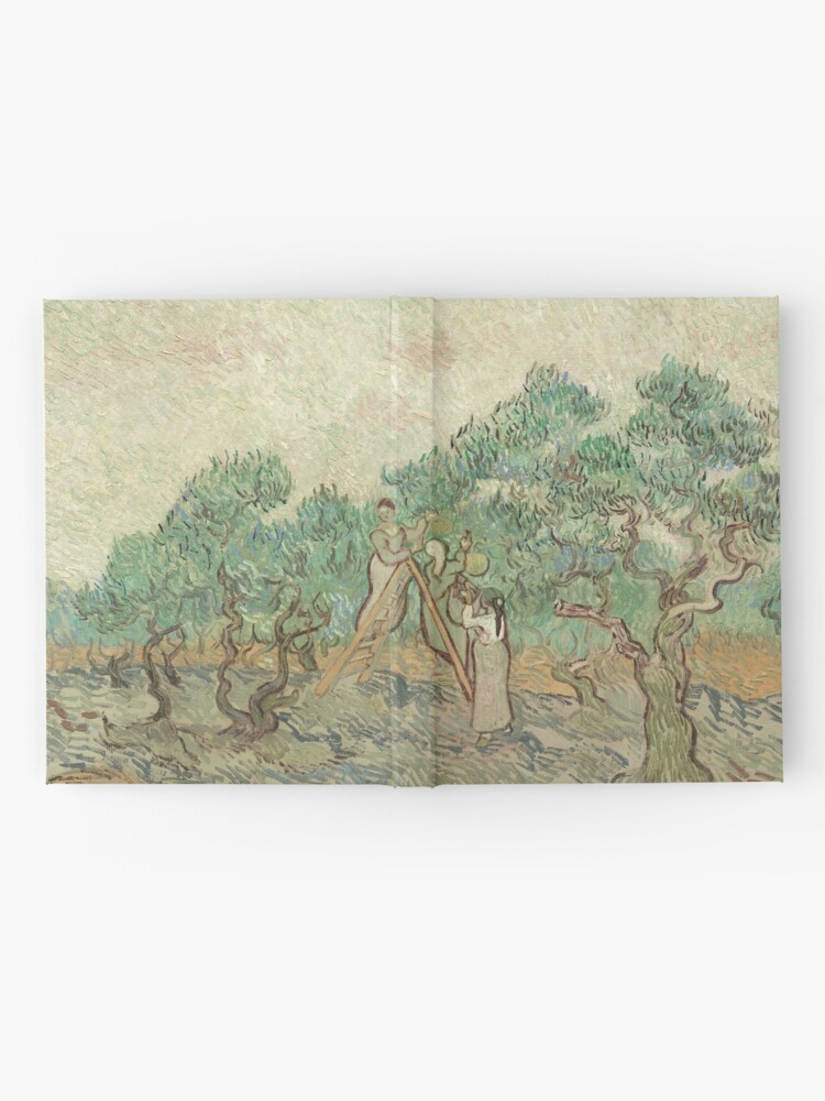 Alternate view of The Olive Orchard by Vincent van Gogh - Classic Art Hardcover Journal